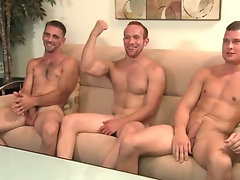2 str8 guys and a gay guy, but no girl shows up for the orgy.