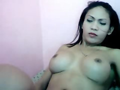 Big Rack and Big Cock Tranny
