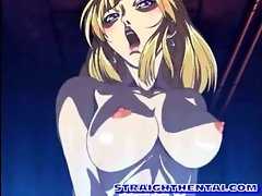 Lucky anime gangbang and cummed act