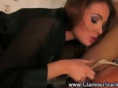 Glamorous fetish euro lesbians