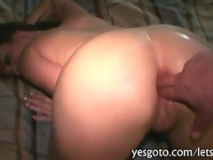 Fresh gf Victoria Love teasing with her lingerie and painful anal try out