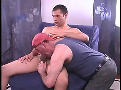 Str8 cute young dude's huge thick uncut cock is sucked by me.