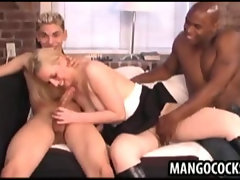 Blonde sucking big dicks