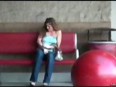 Girls titties exposed in public