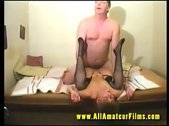 Amateurs enjoying there first porn movie