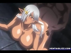 Bigboobed hentai ghetto deep assfucked by monsters