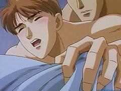 Anime gay fucking his boy butthole