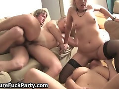 Lucky young guy fucking three big