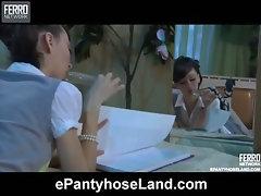 Molly pantyhose tease action
