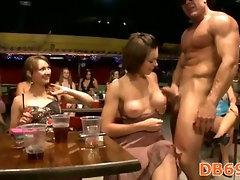 Girls sucks dick and gets cum all