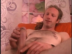 Str8 hippie with a beer can thick cock jacks off before I blow him.
