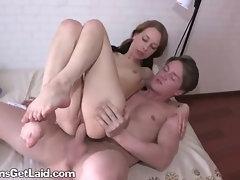 Riding Atop A Huge Big Cock