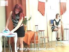 Gwendolen&Isabella naughty pantyhose movie
