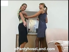 Joanna&Grace hot pantyhose movie