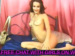 Pretty girl chatting on cam