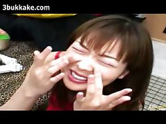 Japanese Facials And Bukkake Compilation 254