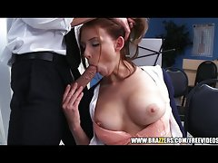 Sexy redhead music student gets extra credit