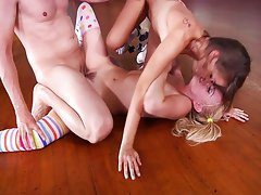 Lexi and Riley fucked on skates