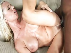 Sexy busty blonde does tit fuck and gets fuck