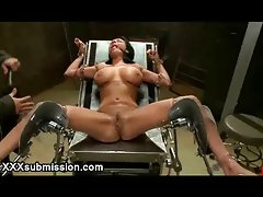 Huge natural tits beautiful French girl bdsm