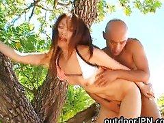 Asami Ogawa Asian amateur has outdoor fun