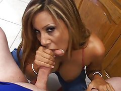 Hot kitchen fucking and sucking
