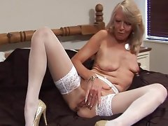 Suzy striptease and masturbate