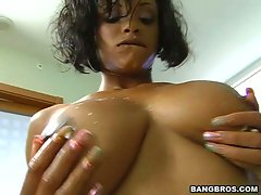 Lavish Styles gets fucked hard then has her breasts cummed all over.