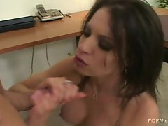 Latina slut Vanessa Lane gets fucked hard, and then swallows the cum load.