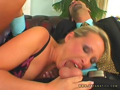 Mandy Bright having her little mom mouth throatfucked hard with a fat dick