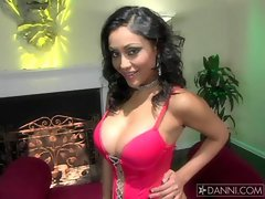 Sexy Indian babe Priya Rai showing how hot she is in sexy pink lingerie