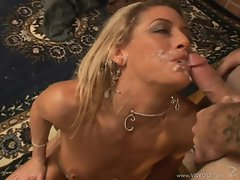 Chelsea Zinn gets balled nicce and hard, and gets a cum facial.
