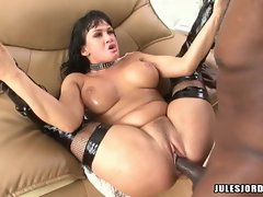 Tory Lane gets her wet snatch brutally mauled by a black monster