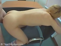 Sexy bitch gets rammed by a cock that's almost as thick as her ass