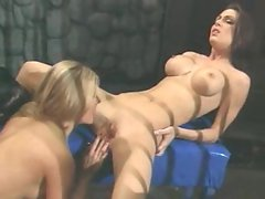 Sluts Jessica Jaymes and Laurie Wallace have some girl on girl action