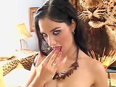 Jasmine Black takes on two throbbing dicks and gulps down their loads