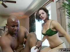 A monster attacks the mouth of Bobbi Starr and she gives in easily