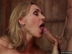 Busty blonde Tanya Tate loves getting her pretty mouth banged by a hard dick