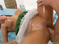 Alexa Nicole gets drilled by a massive cock and loves it