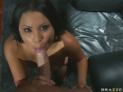 Sophia Lomeli takes a thick dick in her mouth
