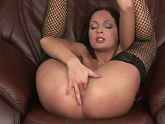 Big Tits Lauren May fingers her warm wet dripping pussy very wild