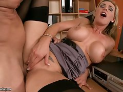 Tanya Tate loves burying a huge hard cock in her hot juicy pussy