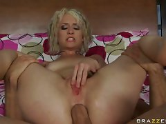 Small boobed Proxy Paige takes a massive cock in her frightened tight ass