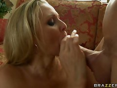 Julia Ann takes a hard pussy pounding and gets coated in cum