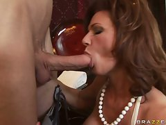 Deauxma is a hot MILF who loves putting juicy dick in her mouth