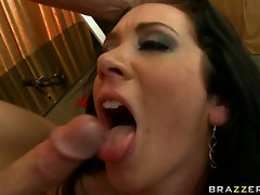 Busty slut Jayden James fucks and takes a hot load from a huge cock