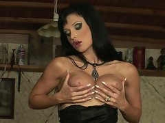 Trashy Aletta Ocean loves rubbing her tits and getting herself off