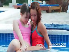 Stripping lesbo teens make out