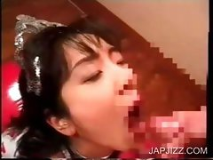 Asian whore gets mouth jizzfilled