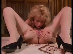 Classic porn babes getting filmed eating cock and pussy in threesome